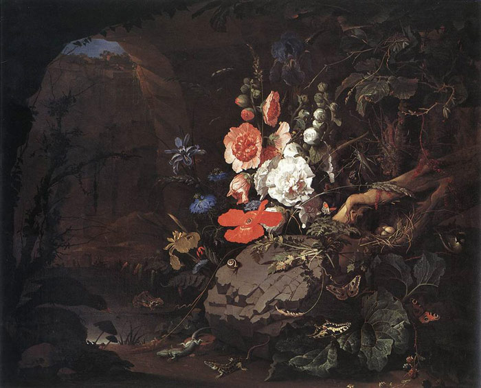 The Nature as a Symbol of Vanitas, 1665-1679  Painting Reproductions