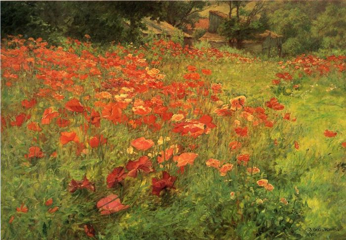In Poppyland, 1901  Painting Reproductions
