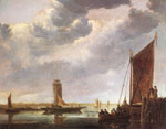0 The Ferry Boat, 1652-1655 Art Reproductions