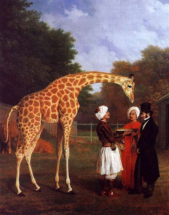 The Nubian Giraffe, 1827 Agasse, Jacques-Laurent Painting Reproductions