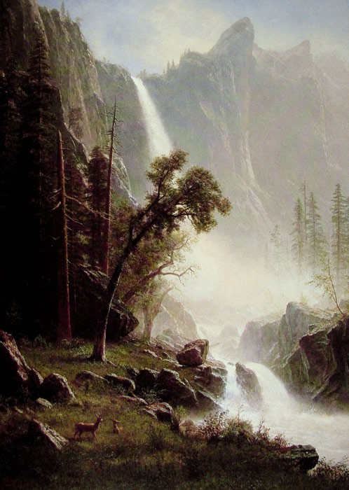 Albert Bierstadt Paintings, Hand Painted on canvas