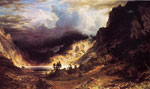 Bierstadt, Albert A Storm in the Rocky Mountains, Mr. Rosalie , 1866	 Art Reproductions