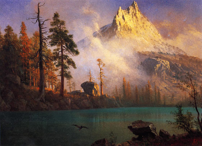 Mountain Lake , 1865	  Painting Reproductions