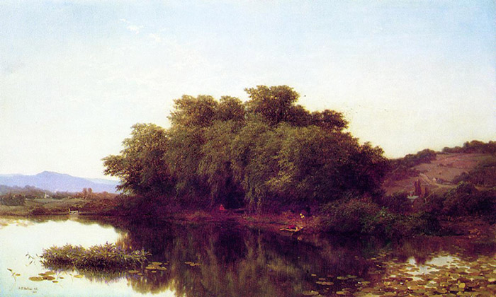A River Bank, 1861  Painting Reproductions