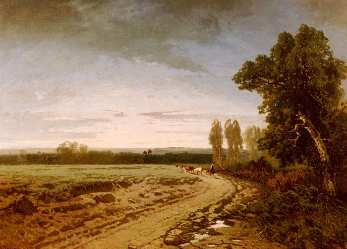 Going To The Pasture, Early Morning, 1853  Painting Reproductions