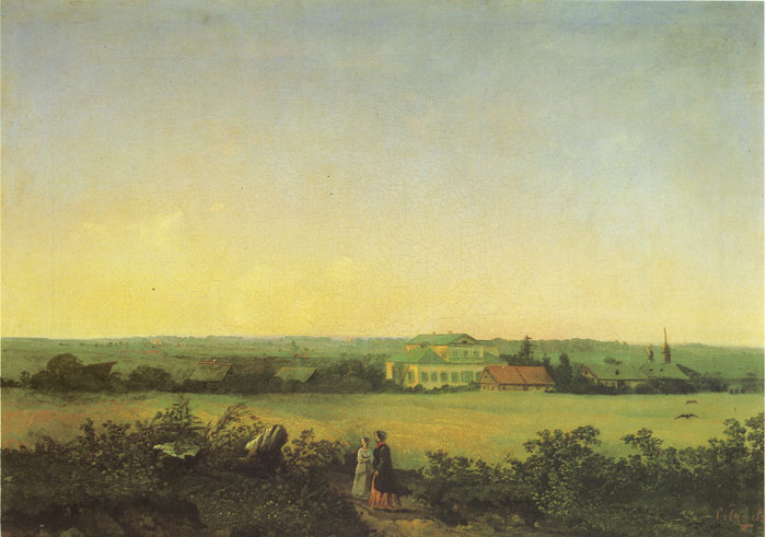 Two Women Near Moscow, 1850  Painting Reproductions