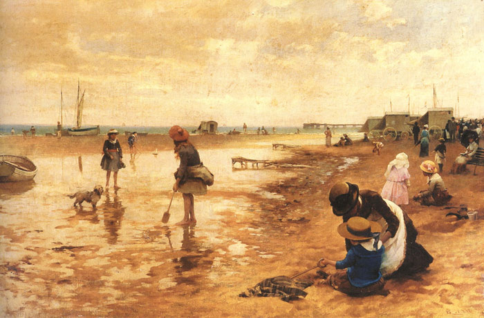 A day at the seaside, 1886  Painting Reproductions
