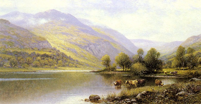 Near Capel Curig, North Wales  Painting Reproductions