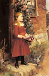 Glendening, Alfred The Youngest Daughter of J.S. Gabriel, 1886 Art Reproductions