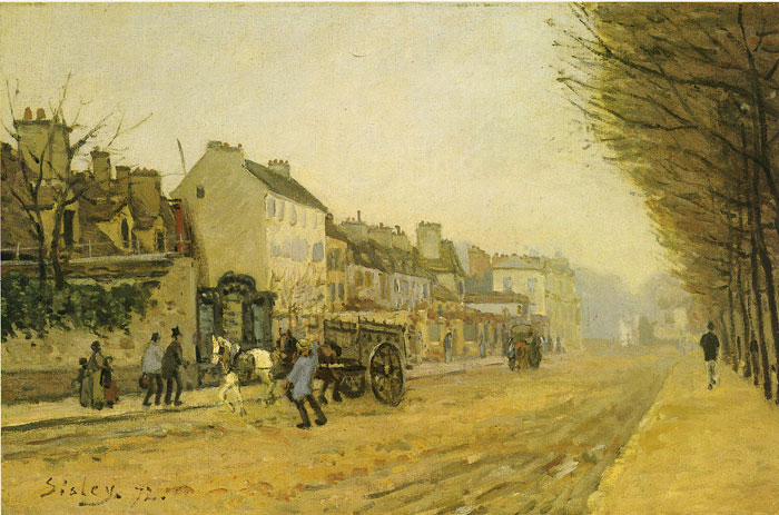 Street in Argentois, 1872 Sisley, Alfred Painting Reproductions