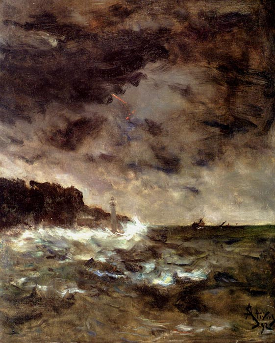 A Stormy Night, 1892  Painting Reproductions
