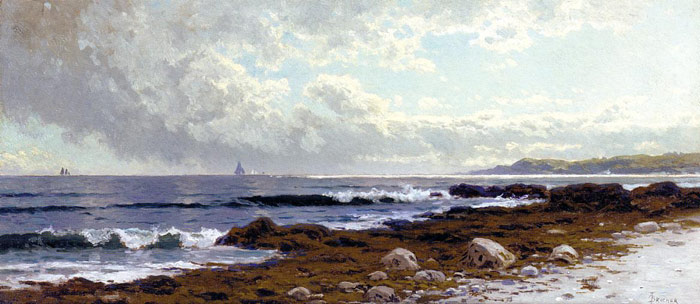 Along the Coast Bricher, Alfred Thompson Painting Reproductions