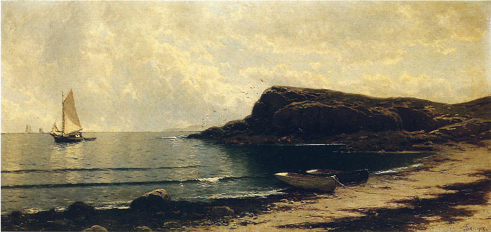 Along the Shore Bricher, Alfred Thompson Painting Reproductions