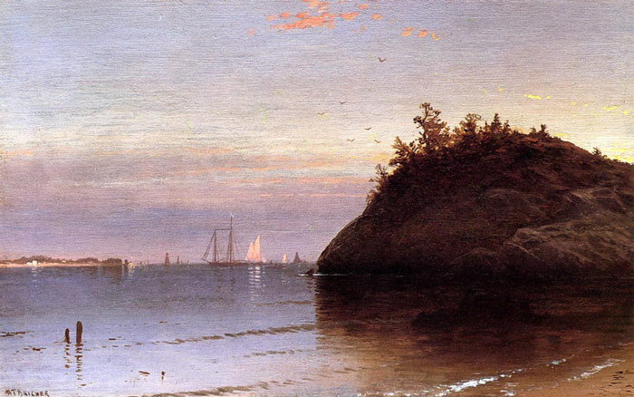 Narragansett Bay Bricher, Alfred Thompson Painting Reproductions