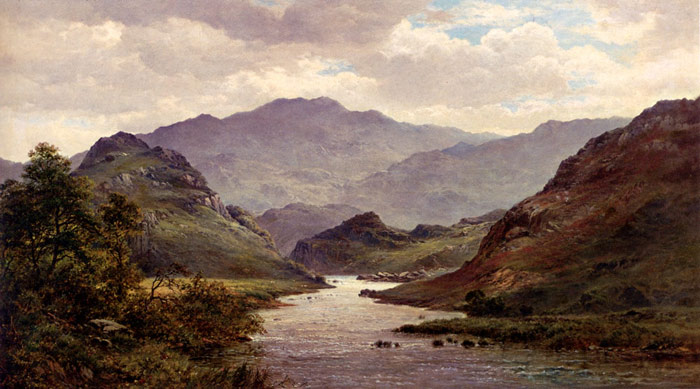 The River Colwyn, North Wales, 1872  Painting Reproductions