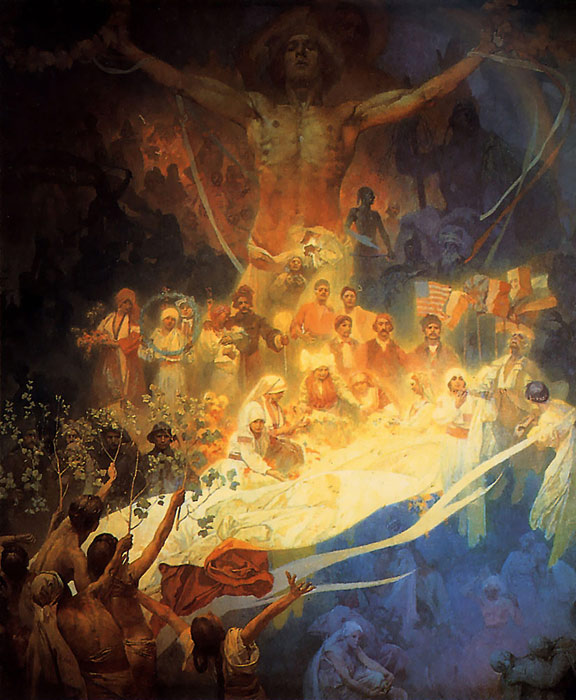 The Apotheosis of the Slavs, 1926  Painting Reproductions