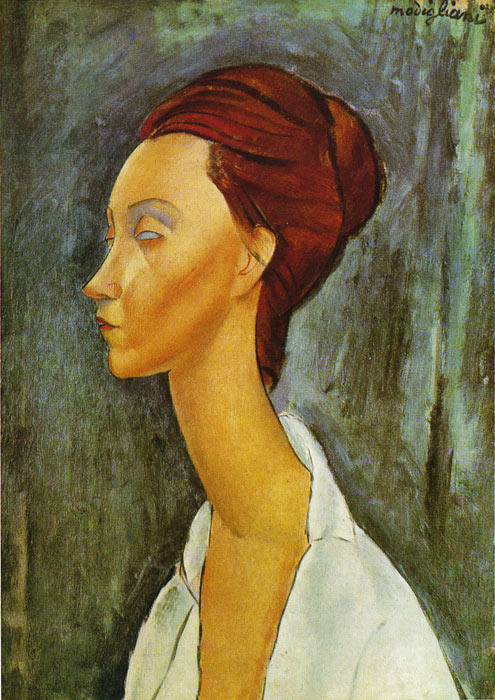 Portrait of Lunia Czeckovska, 1919  Painting Reproductions