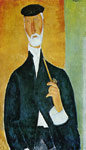 Modigliani, Amedeo Man with Pipe, 1918 Art Reproductions