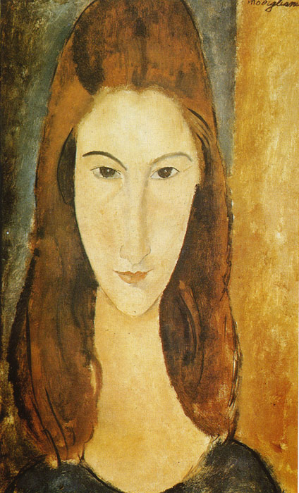 Portrait of Jeanne Hebuterne, 1919  Painting Reproductions