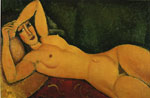 Modigliani, Amedeo Reclining Nude with Left Arm Resting on Her Forehead, 1917 Art Reproductions