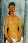 Modigliani, Amedeo Standing Nude- Elvira, 1918 Art Reproductions