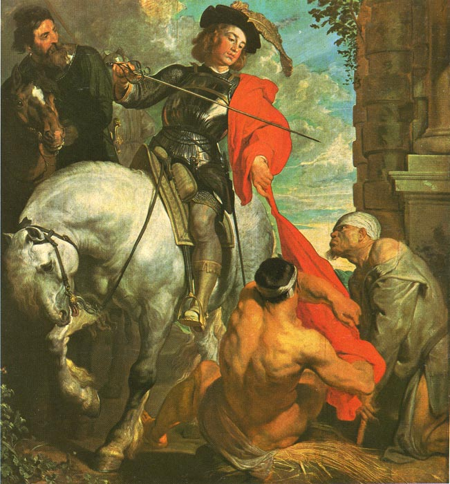 St Martin Dividing his Cloak, c.1618  Painting Reproductions