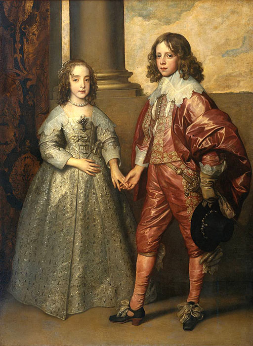 William II, Prince of Orange and Princess Henrietta Mary Stuart, daughter of Charles I of England, 1641  Painting Reproductions