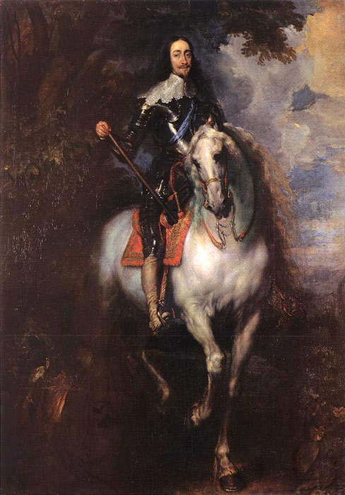 Equestrian Portrait of Charles I, King of England, 1635-1640  Painting Reproductions