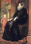 Dyck, Sir Antony van Genoese Noblewoman with her Son, 1626 Art Reproductions