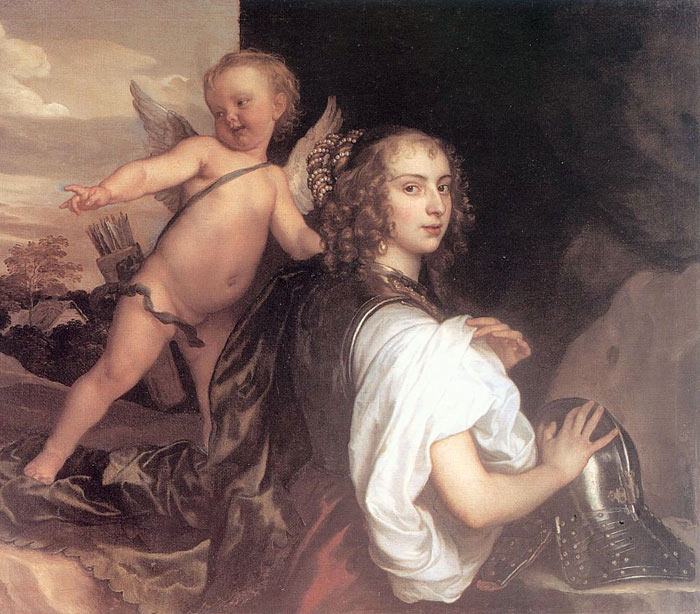 Portrait of a Girl as Erminia Accompanied by Cupid, 1638  Painting Reproductions