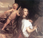 Dyck, Sir Antony van Portrait of a Girl as Erminia Accompanied by Cupid, 1638 Art Reproductions