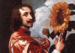 Dyck, Sir Antony van Self-portrait with a Sunflower, 1632 Art Reproductions