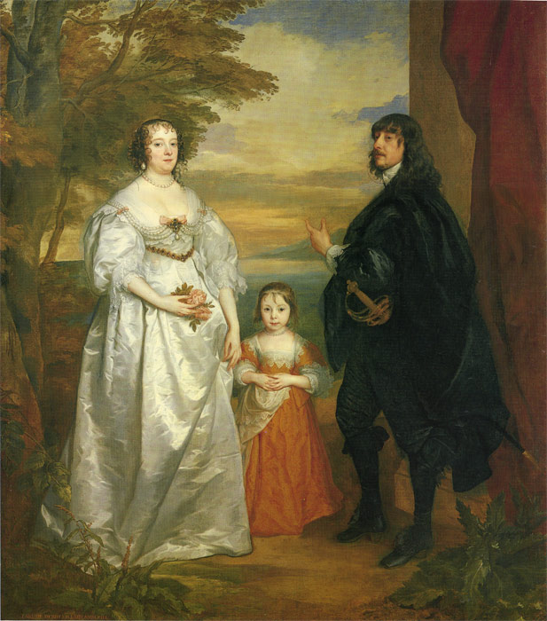 James, Seventh Earl of Derby, His Lady and Child  Painting Reproductions