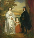 Dyck, Sir Antony van James, Seventh Earl of Derby, His Lady and Child Art Reproductions