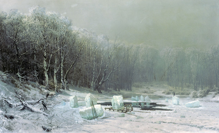 Winter, Ice. 1878  Painting Reproductions