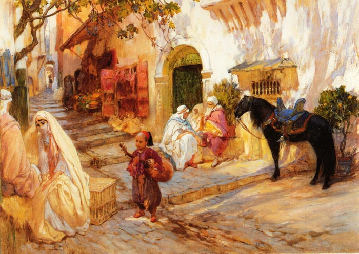 A Street in Algeria Bridgeman, Arthur Frederick Painting Reproductions