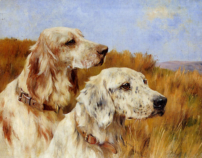 Two Setters  Painting Reproductions