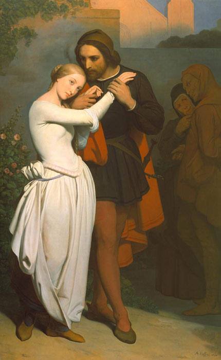 Faust and Marguerite in the Garden,  1846  Painting Reproductions