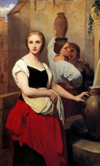 Margaret at the Fountain, 1852  Painting Reproductions