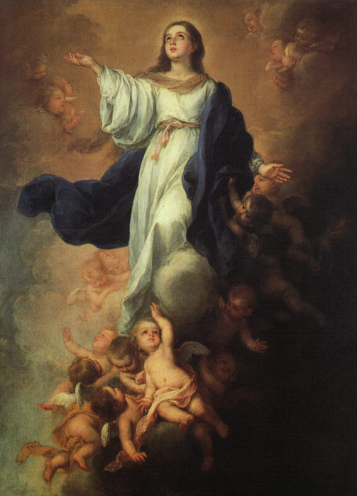 Assumption of the Virgin Murillo, Bartolome Esteban Painting Reproductions