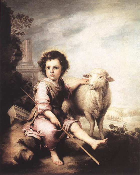 Christ the Good Shepherd, c.1660  Painting Reproductions