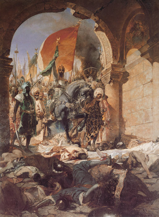 The Entry of Mahomet II into Constantinople, 1876  Painting Reproductions