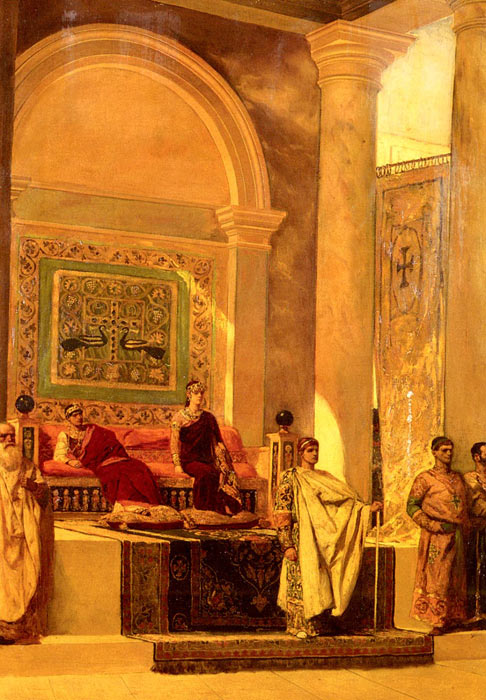 The Throne Room In Byzantium  Painting Reproductions