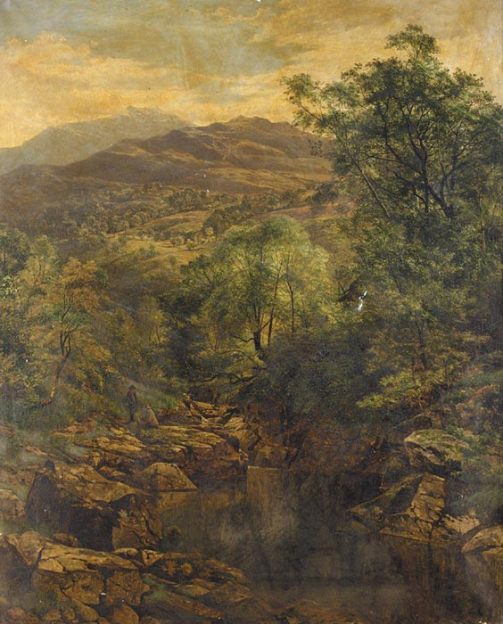 A Quiet Pool in Glenfalloch, 1859  Painting Reproductions