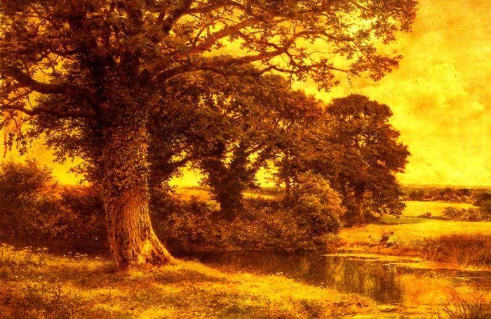A Woodland Pool, 1915  Painting Reproductions