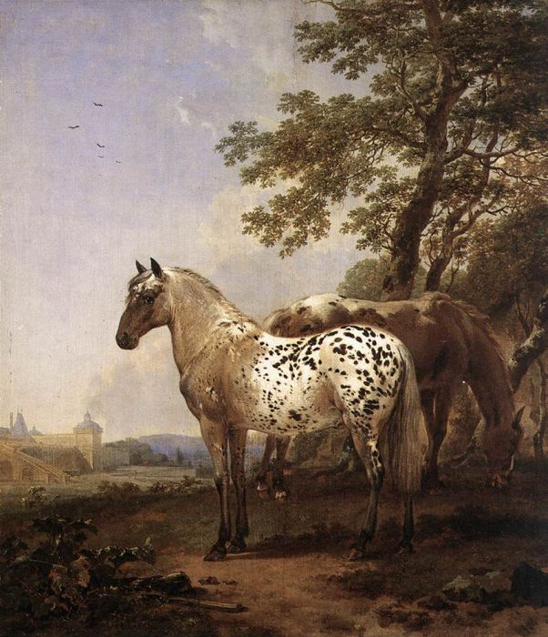 Landscape with Two Horses  Painting Reproductions