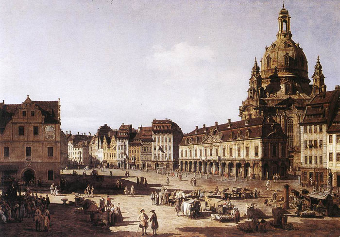 New Market Square in Dresden, 1750  Painting Reproductions