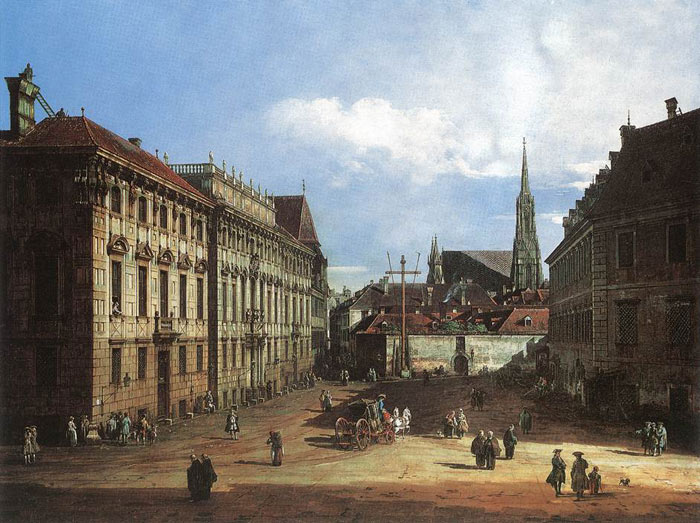 Vienna, the Lobkowitzplatz, 1759-1760  Painting Reproductions