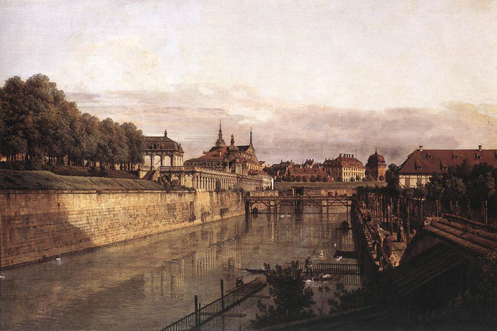 Zwinger Waterway, 1750  Painting Reproductions