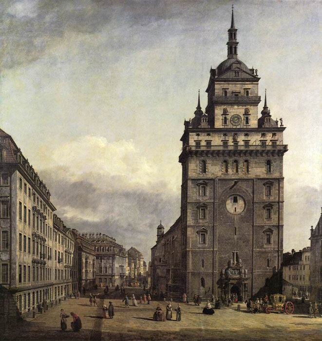 The Kreuzkirche in Dresden, 1747-1756  Painting Reproductions
